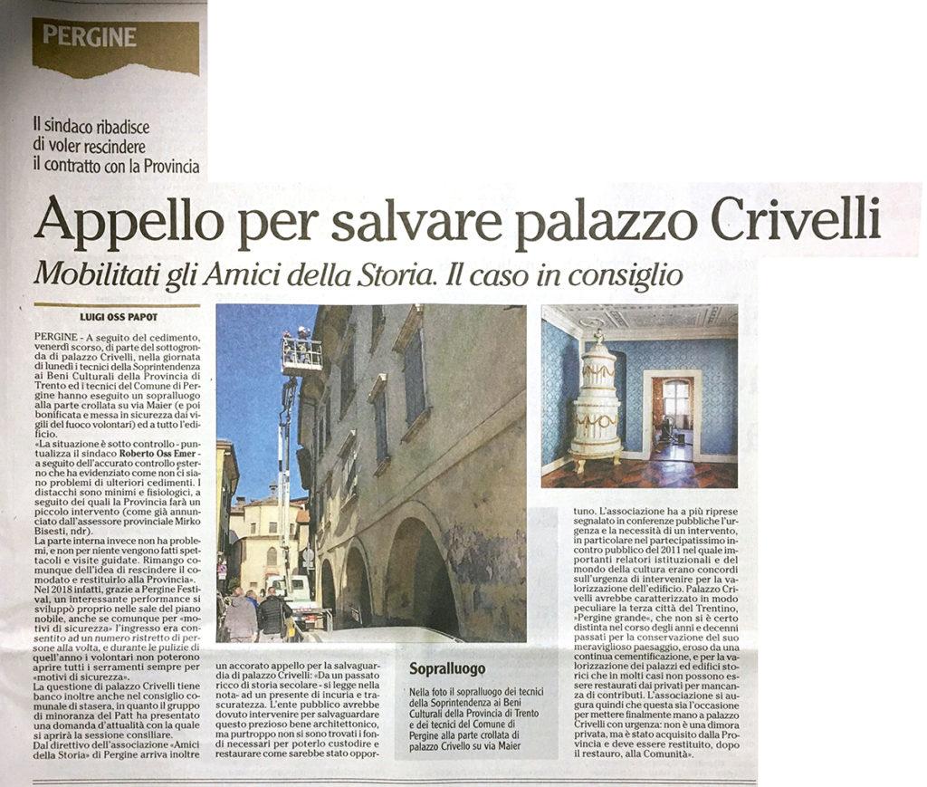 Appello per salvare Palazzo Crivelli