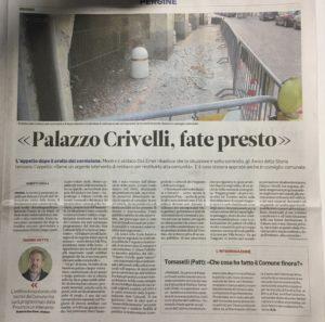 Palazzo Crivelli, fate presto