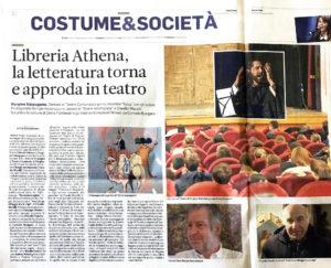 """""""Libreria Athena, la letteratura torna e approda in teatro"""", Trentino – 18 giugno 2020"""